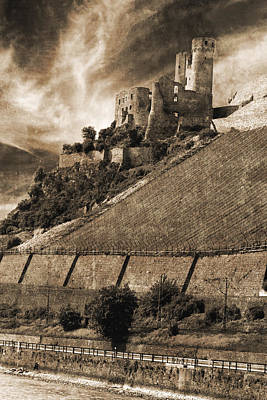 Photograph - Ehrenfels Castle Germany Sepia by Greg Kluempers