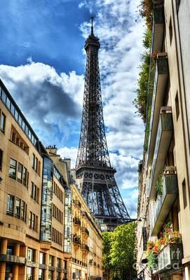 Photograph - Eiffel Tower In Paris 2 by Mel Steinhauer