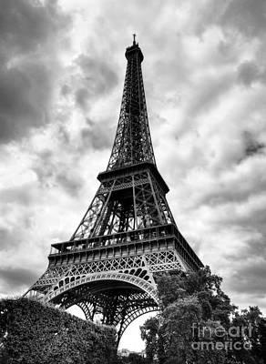 Photograph - Eiffel Tower Paris Bw by Mel Steinhauer