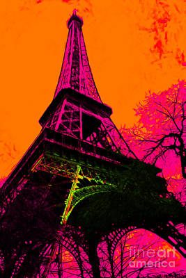 Eiffel 20130115v1 Print by Wingsdomain Art and Photography