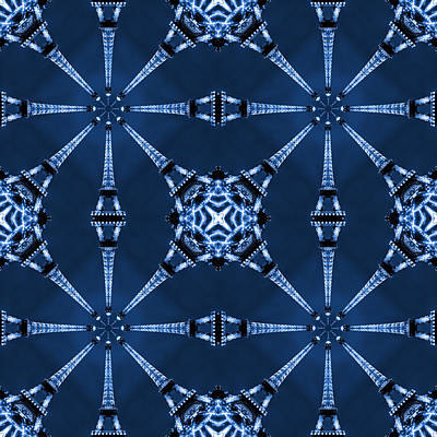 Square Art Digital Art - Eiffel Art 18 by Mike McGlothlen