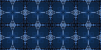 Pop Art Royalty-Free and Rights-Managed Images - Eiffel Art 28a by Mike McGlothlen