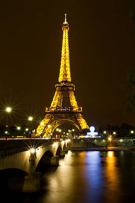 Photograph - Eiffel At Night by David Freuthal