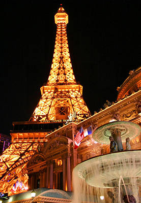 Photograph - Eiffel At Night by Kristin Elmquist