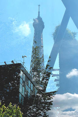 Photograph - Eiffel Collage by Kathy Corday