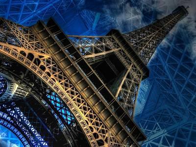 Looming Digital Art - Eiffel Deux by Randy Turnbow