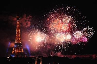 Bastille Day Celebration Photograph - Eiffel Exploding On Bastille Day by Csilla Florida