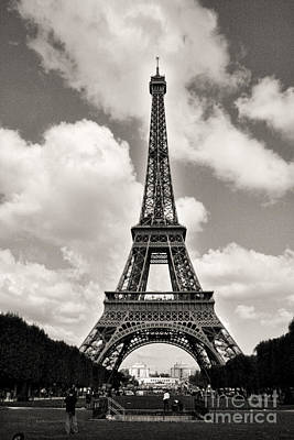 Photograph - Eiffel In Black And White by Crystal Nederman