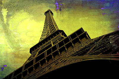 Paris Skyline Royalty-Free and Rights-Managed Images - Eiffel in the Spring by Evie Carrier