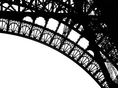 Photograph - Eiffel Metal Crochet  by Rita Haeussler