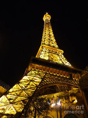 Photograph - Eiffel Night by David Bearden