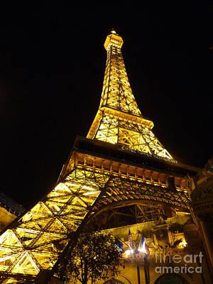 Photograph - Eiffel Night by David Bearden