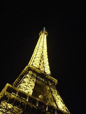 Photograph - Eiffel Night by Felecia Clarke