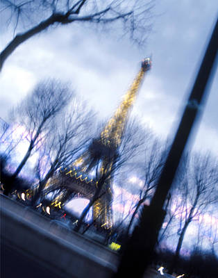 Street Lamps Digital Art - Eiffel On The Move by Mike McGlothlen