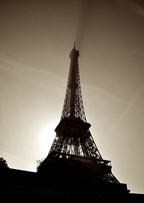 Photograph - Eiffel Silhouette by Matt MacMillan