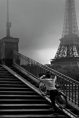 Struggling Photograph - Eiffel by Sol Marrades