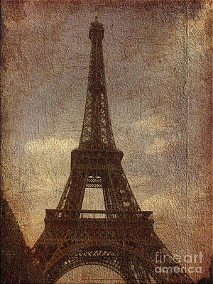 Digital Art - Eiffel by Soumya Bouchachi