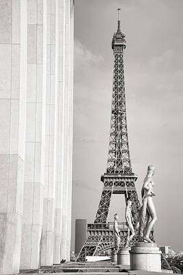 Photograph - Eiffel Tour Paris Black And White by For Ninety One Days