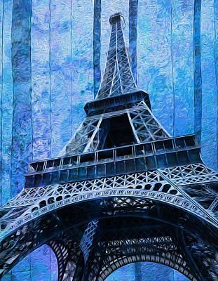 World Tour Digital Art - Eiffel Tower 2 by Jack Zulli