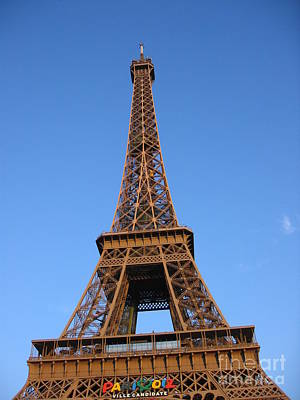 Photograph - Eiffel Tower 2005 Ville Candidate by HEVi FineArt