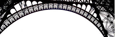 Eiffel Tower Abstract Art Print by Mary Bedy