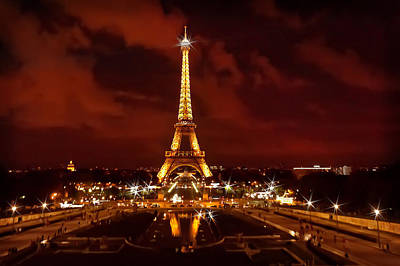 Photograph - Eiffel Tower After Sunset by Mitchell R Grosky