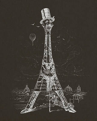 Tower Digital Art - Eiffel Tower by Aged Pixel