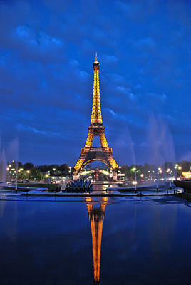 Photograph - Eiffel Tower  by Allen Beatty