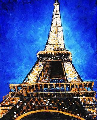 Building Painting - Eiffel Tower by Anastasiya Malakhova