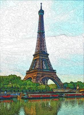 Photograph - Eiffel Tower And Bateaux by Steven Richman