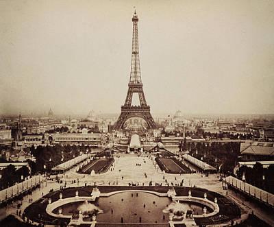 Paris Digital Art - Eiffel Tower And Champ De Mars 1889 by Bill Cannon