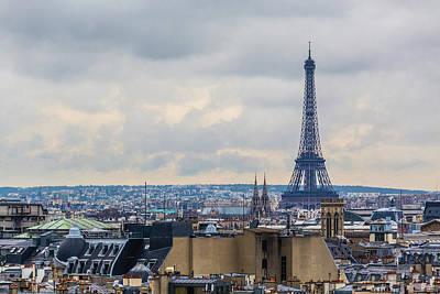 Photograph - Eiffel Tower And Paris Skyline, France by Deimagine