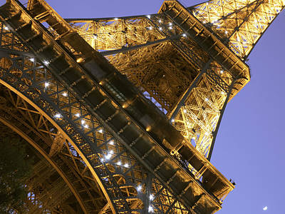 Photograph - Eiffel Tower And Purple Sky by Heidi Hermes