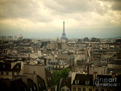 Eiffel Tower And Roofs Of Paris. France.europe. Art Print