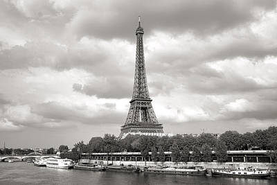 Photograph - Eiffel Tower And The Seine by For Ninety One Days