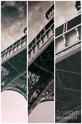 Photograph - Eiffel Tower Angles Panels by John Rizzuto