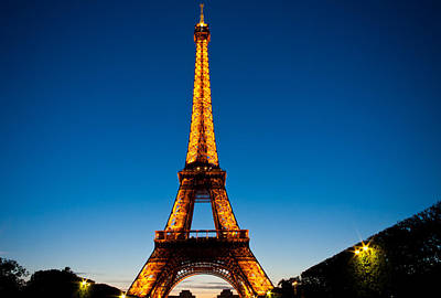 Photograph - Eiffel Tower At Dusk by Anthony Doudt