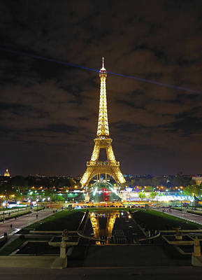 Photograph - Eiffel Tower At Night 2013 by Heidi Hermes