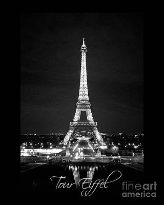 Photograph - Eiffel Tower At Night by Heidi Hermes
