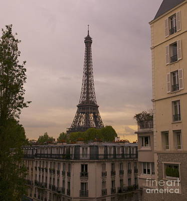 Photograph - Eiffel Tower At Sunset by Louise Fahy