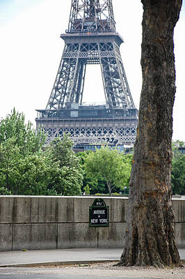 Photograph - Eiffel Tower Avenue De New York by Dany Lison
