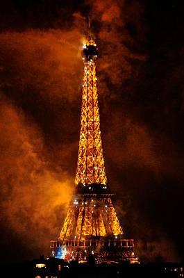 Bastille Day Celebration Photograph - Eiffel Grandeur by Csilla Florida