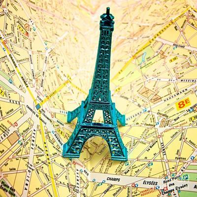 City Map Photograph - Eiffel Tower by Bernard Jaubert