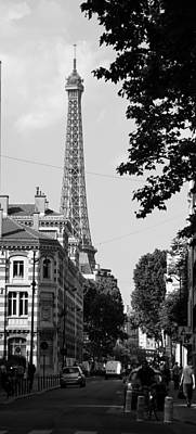 Photograph - Eiffel Tower Black And White 4 by Andrew Fare
