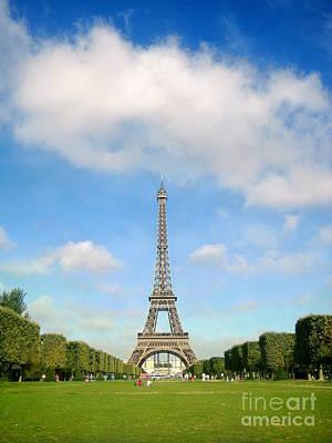 Eiffel Tower Blue Sky's Paris  Art Print