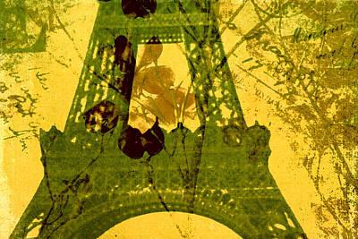 Paris Digital Art - Eiffel Tower by Bonnie Bruno