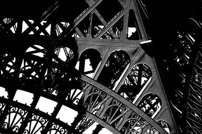 Photograph - Eiffel Tower Bw by Jacqueline M Lewis