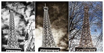 Photograph - Eiffel Tower Colors by John Rizzuto