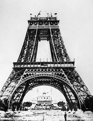 Photograph - Eiffel Tower Construction by Granger