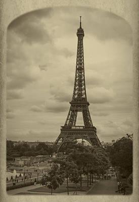 Eiffel Tower Art Print by Debra and Dave Vanderlaan